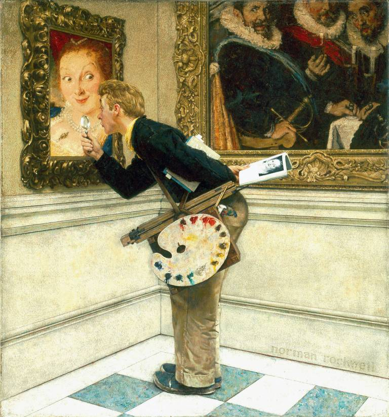 Norman Rockwell, The Art Critic, 1955