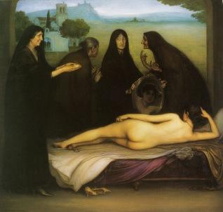 Julio Romero de Torres, El Pecado, 1915