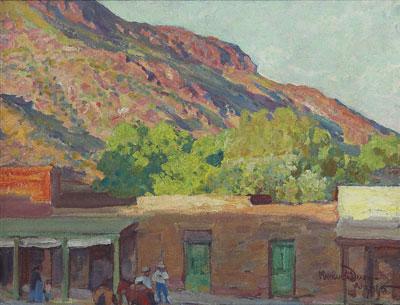 Maynard Dixon, Adobe Town, Tempe, Arizona, 1915