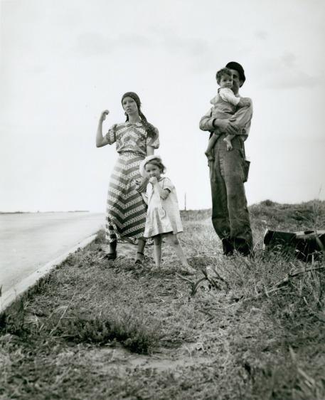 Dorothea Lange, Family on the Road, Oklahoma, 1938