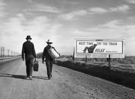 Dorothea Lange, On the Road Toward Los Angeles, 1937