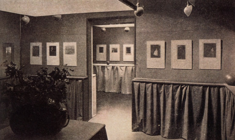 "Interior view of the ""Little Galleries"" at 291. Photo by Gertrude Käsebier."