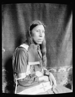 Sammy Lone Bear, a Sioux Indian from Buffalo Bill's Wild West Show