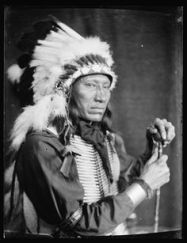 Kills Close to the Lodge, a Sioux Indian from Buffalo Bill's Wild West Show