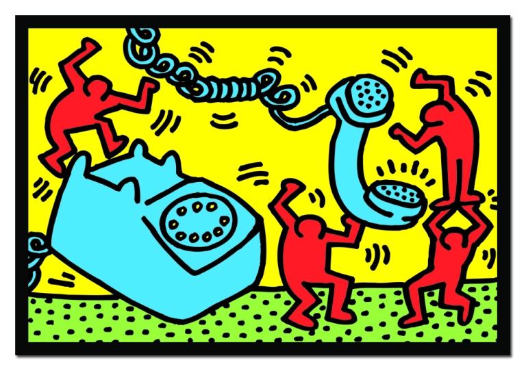 figuren-mit-telefon-keith-haring-puzzle-500-teile-educa