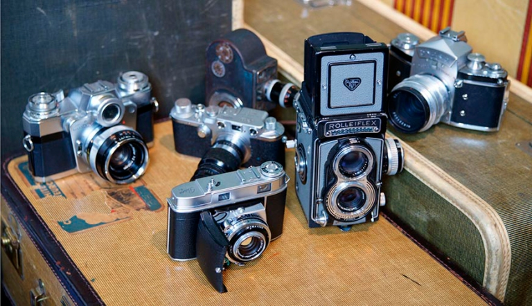 Algunas de las cámaras de Vivian Maier