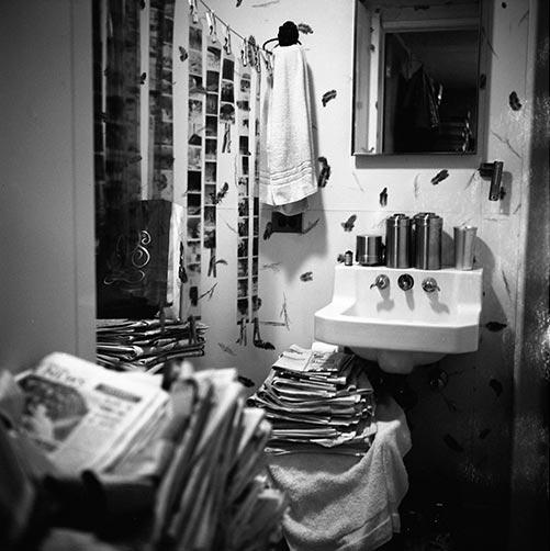 Baño de Vivian Maier utilizado como cuarto oscuro