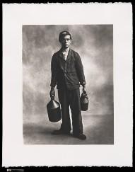 Irving Penn, Locomotive Fireman, London, 1950