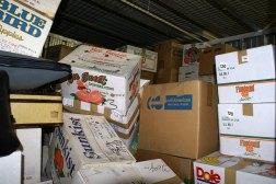 Uno de los armarios de almacenamiento de Vivian Maier