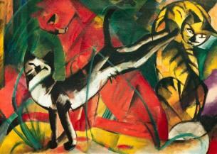 Tres Gatos, Franz Marc, 1913