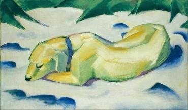 Perro en la nieve, Franz Marc, 1911