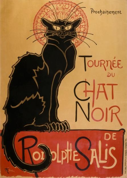 """Cartel para Le Chat Noire (""""El gato negro""""), Théophile Alexandre Steinlen, 1896"""