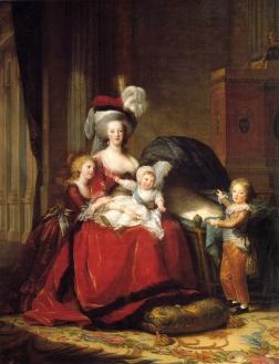María Antonieta con sus hijos