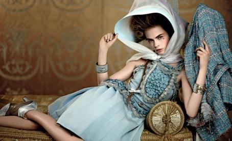 Cara Delevigne como María Antonieta, Campaña Chanel Resort 2013