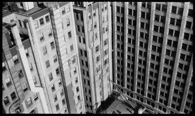 Detalle de rascacielos de Nueva York, Walker Evans, 1930