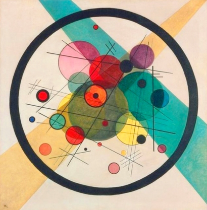 Vasili Kandinsky, Círculos en un círculo, 1923