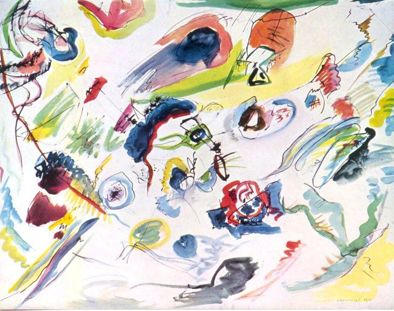 Vasily Kandinsky, Primera acuarela abstracta, 1911