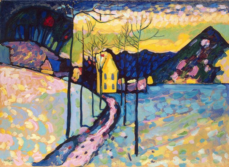 Kandinsky , Paisaje de invierno, 1909