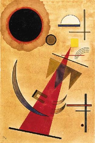 Vasily Kandinsky, Rot in spitzform, 1925