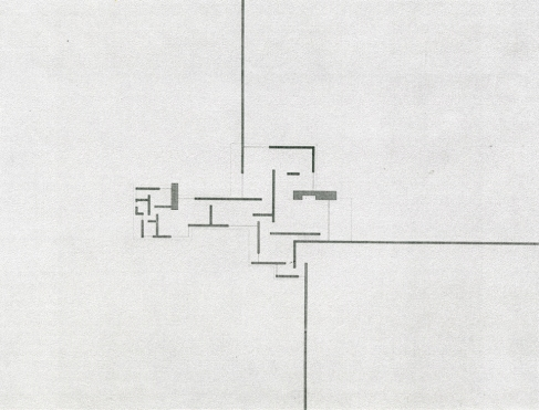 """Proyecto para una """"casa de campo de ladrillo"""", Mies van der Rohe, 1924"""