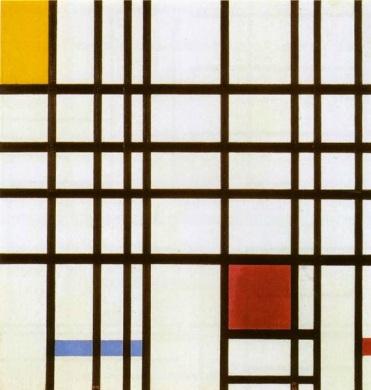 cmposición rojo, amarillo y azul1921