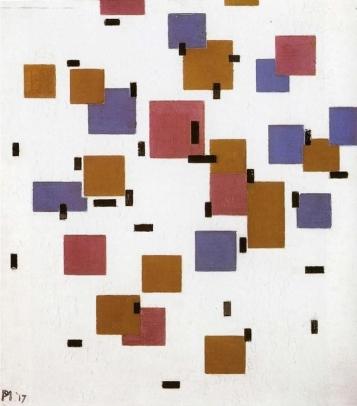 Mondrian_Compositie_in_kleur_A