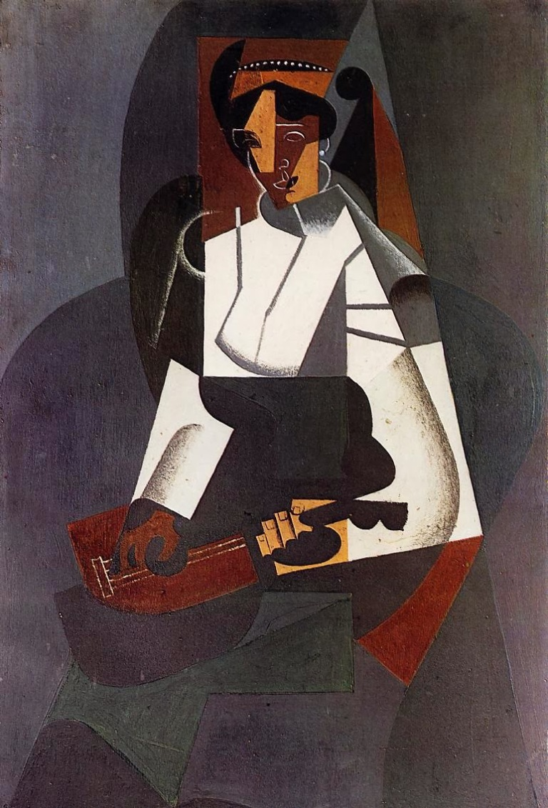 woman-with-a-mandolin-after-corot-1916 juan gris